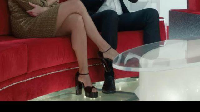 Block heels portées par Virginie Efira (Virginie Efira) dans Dix Pour Cent (S02E01)