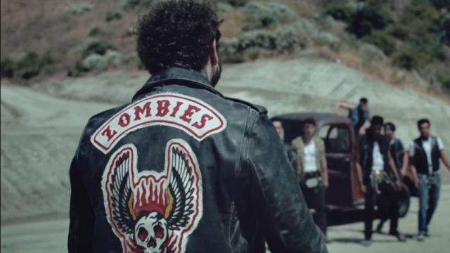 """""""Zombies"""" leather jacket worn by Post Malone as seen in his Goodbyes music video feat. Young Thug (Rated R)"""
