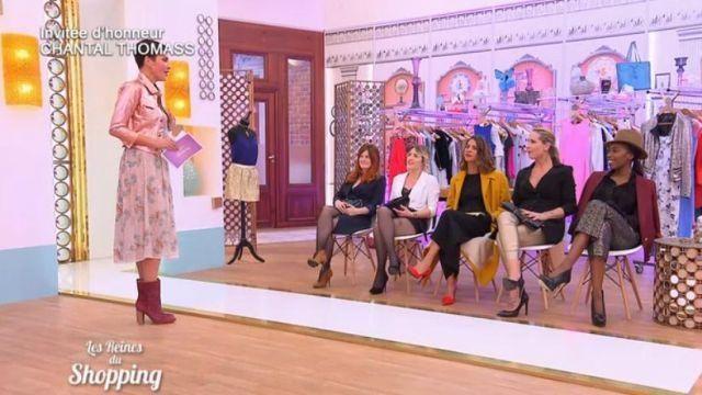 Bottes mi-hautes de Cristina Córdula dans Les Reines du Shopping