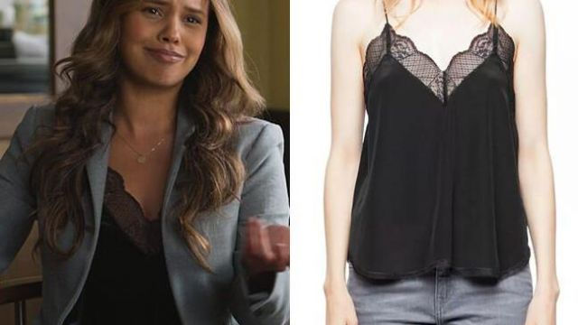 Silk Camisole Top by Zadig and Voltaire worn by Jessica Davis (Alisha Boe) in 13 Reasons Why (S04E09)