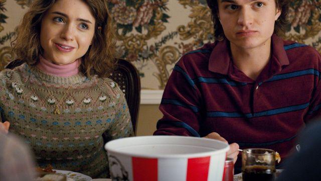 Fair Isle sweater  of Nancy Wheeler Natalia Dyer in Stranger Things