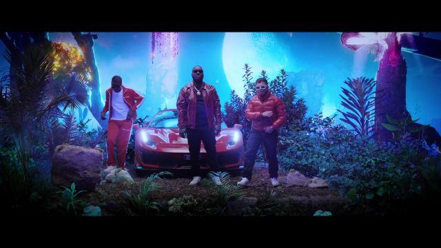 Jogging rouge Palm Angels porté par Ninho dans DJ Quick ft Ninho & Hamza - Elle m'a dit (Clip Officiel)