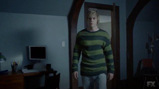 Green-Black Pullover worn by Tate Langdon (Evan Peters) as seen in American Horror Story