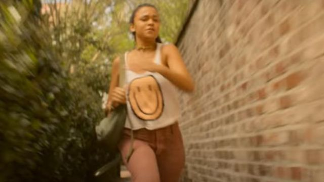 Smiley Emoji Face Tank Top worn by Kiara (Madison Bailey) as seen in Outer Banks (S02E01)