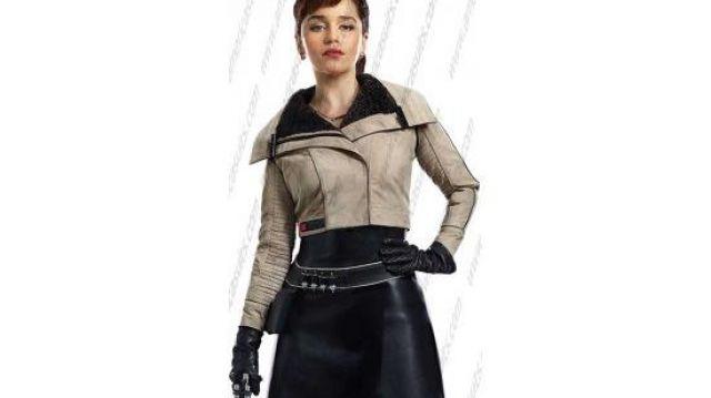 Emilia Clark Solo A Star Wars Story Jacket worn by Qi'ra (Emilia Clarke) in Solo: A Star Wars Story