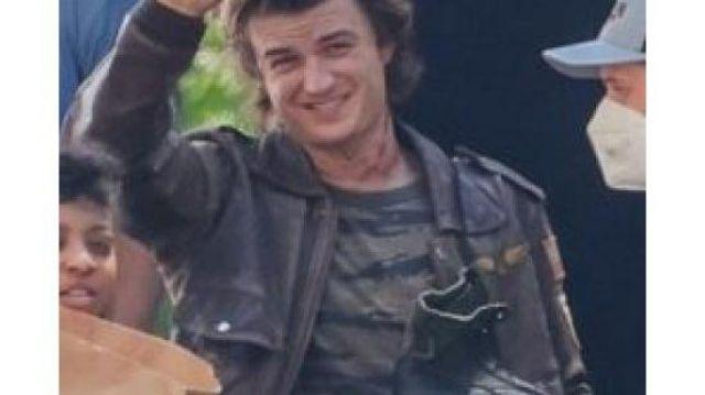 Stranger Things SO4 Joe Keery Leather Jacket worn by Steve Harrington (Joe Keery) in Stranger Things