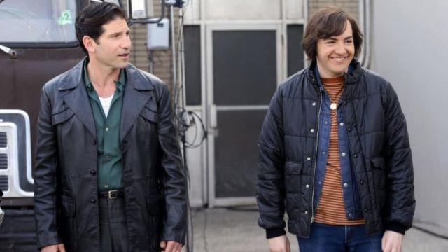 Black leather jacket worn by Giovanni « Johnny Boy » Soprano (Jon Bernthal) in The Many Saints of Newark movie
