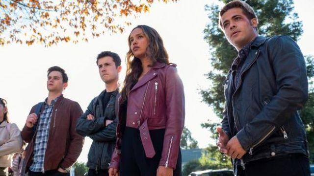 Burgendy Leather Jacket worn by Jessica Davis (Alisha Boe) in 13 Reasons Why (Season 4 Episode 8) TV series