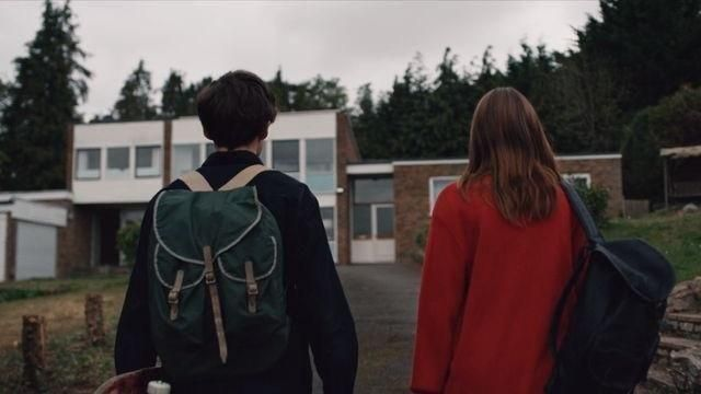 Backpack used by James (Alex Lawther) in The End of the F***ing World TV series (S01E01)
