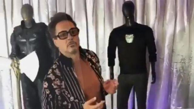 Black Sweater of Tony Stark (Robert Downey Jr) as seen in Avengers: Endgame movie