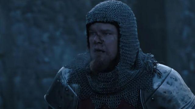 Chainmail helmet worn by Jean de Carrouges (Matt Damon) as seen in The Last Duel movie
