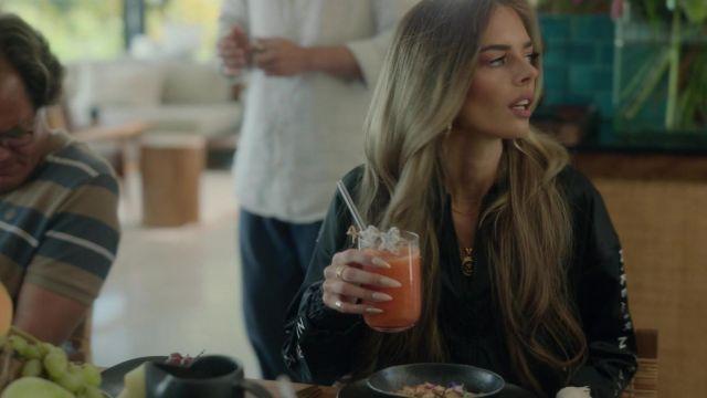 Nike Air Trak Satin Jacket in black worn by Jessica Chandler (Samara Weaving) as seen in Nine Perfect Strangers (Season 1 Episode 4)