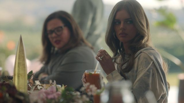 Sundown By Splendid French Terry Hoodie worn by Jessica Chandler (Samara Weaving) as seen in Nine Perfect Strangers (S01E02) TV series wardrobe