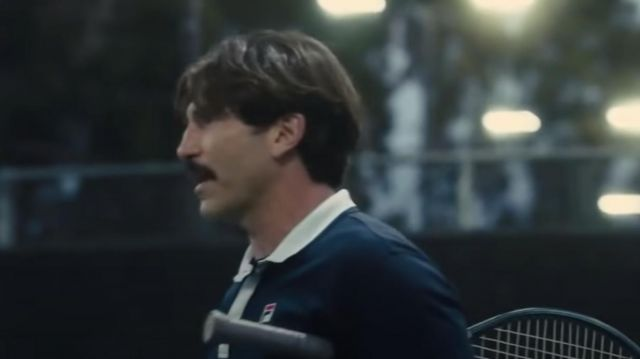 Vintage Fila Tennis Polo Shirt in blue worn by Rick Macci (Jon Bernthal) as seen in King Richard - outfits from the movie