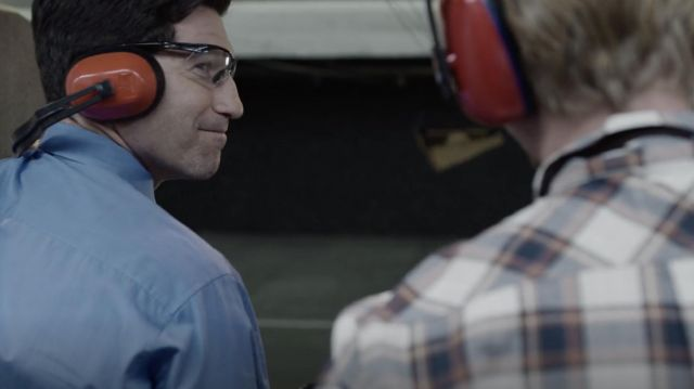 Shooting glasses worn by Chase Milbrandt (Jon Bernthal) as seen in The Premise (Season 1 Episode 2)