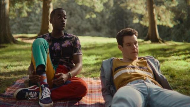 Vans sneakers worn by Eric Effiong (Ncuti Gatwa) as seen in Sex Education outfits (S03E02)