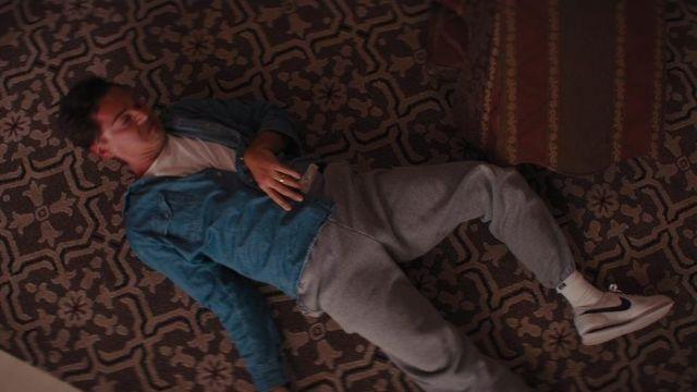 Blue denim shirt worn by Jordan Belfort (Leonardo DiCaprio) as seen in The Wolf of Wall Street movie