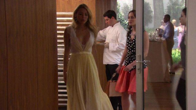The Yellow Dress Cloth Of Serena Van Der Woodsen Blake