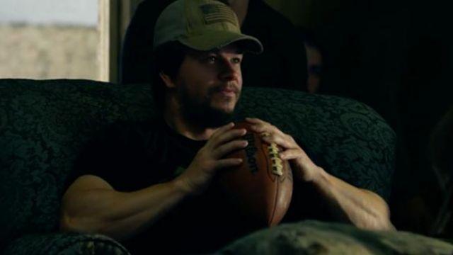 The ball of american football Wilson, Mark Wahlberg in Lone Survivor