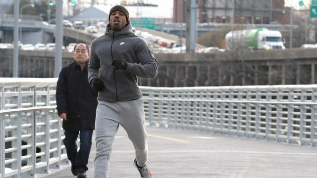 The hoodie Nike gray with pocket on sleeve of Michael B