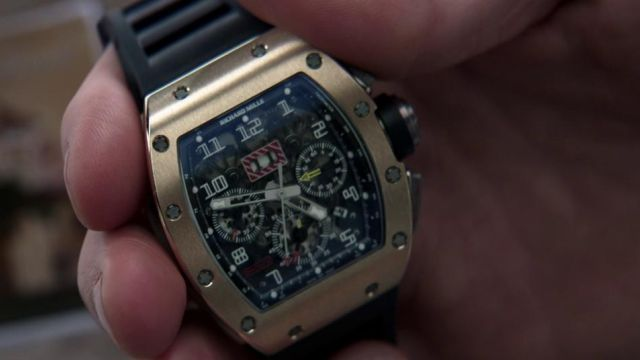 The watch Richard Mille RM11 Jason Statham in Parker