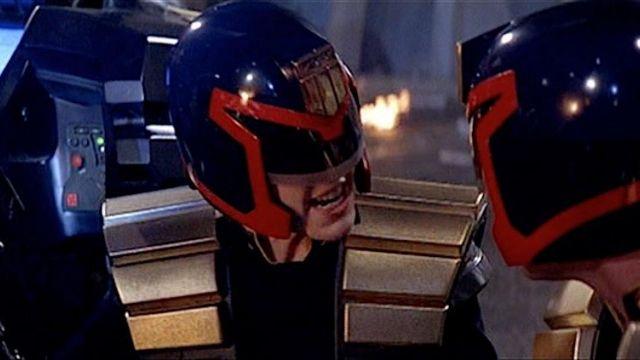 The helmet of Judge Hershey (Diane Lane) in Judge Dredd