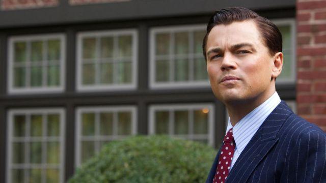 The tie of Jordan Belfot (Leonardo DiCaprio) in The Wolf of Wall Street