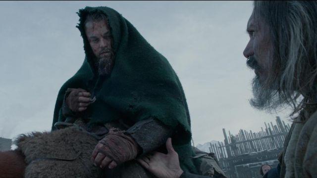 The genuine green cover of Hugh Glass (Leonardo DiCaprio) in The Revenant