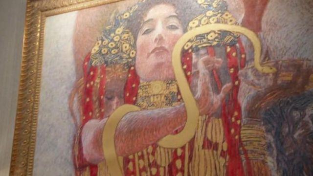 The table Hygieia gold Medicine Gustav Klimt in Empire