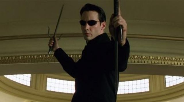 The sais of Neo (Keanu Reeves) in the Matrix Reloaded