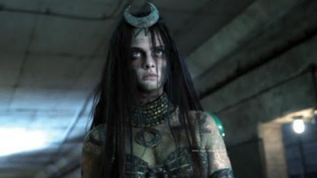 The costume of The Enchantress (Cara Delevingne) in Suicide Squad