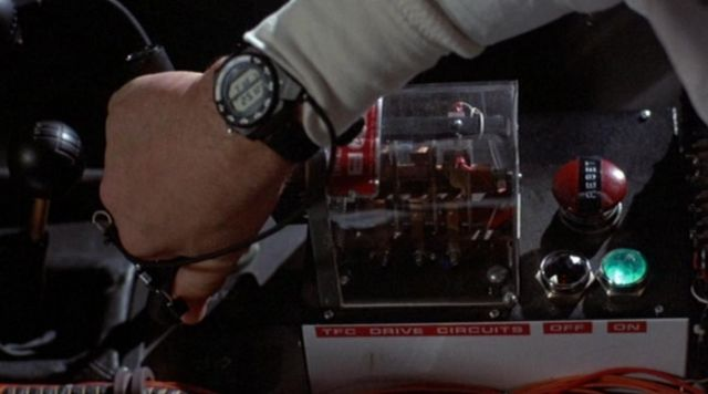 Seiko A826 regarder portés par Doc Brown (Christopher Lloyd) dans Retour Vers Le Futur