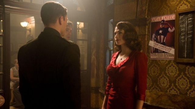 Red Dress worn by Peggy Carter (Hayley Atwell) in Captain America: First Avenger