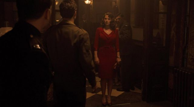 Vintage 50s Red Dress worn by Peggy Carter (Hayley Atwell) in Captain America: First Avenger