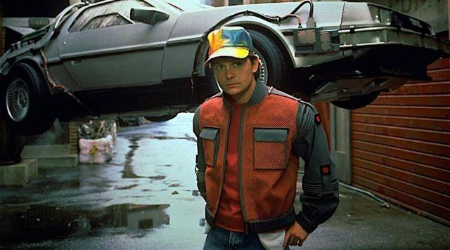 D'origine Auto-Séchage, la Veste portée par Marty McFly (Michael J. Fox) dans Retour vers Le Futur Partie II