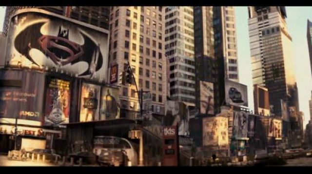 The poster for the movie Batman Vs Superman in I am Legend | Spotern