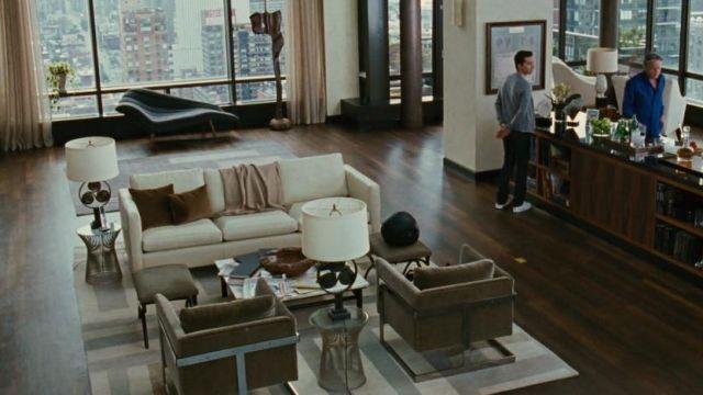 Le tapis chez Gordon Gekko (Michael Douglas) dans Wall Street : l'argent ne dort jamais