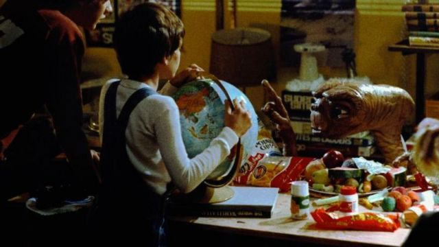 The bag of Reese's Pieces, Elliot in E. T. the extra-terrestrial ...