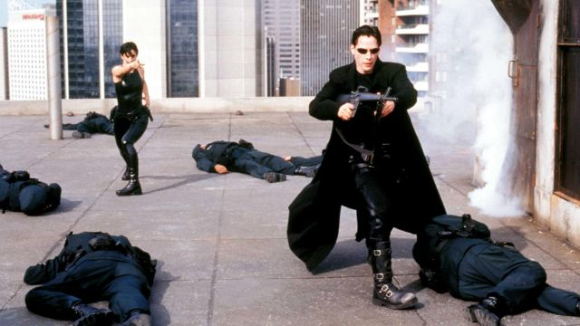 The coat-gothic, Neo (Keanu Reeves) in the Matrix