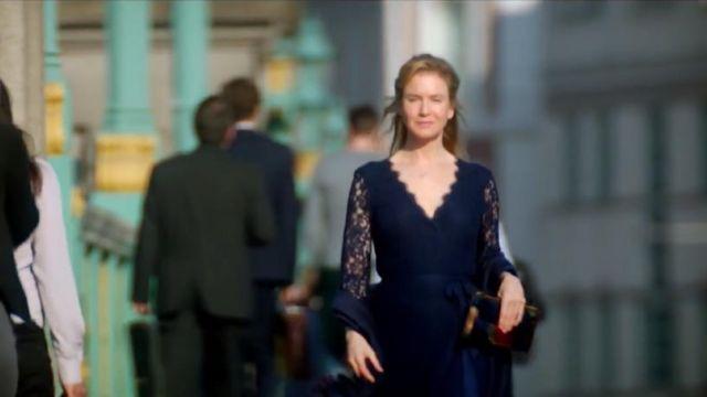 The blue dress Diane Von Furstenberg Bridget Jones (Renée Zellweger) in Bridget Jones's Baby