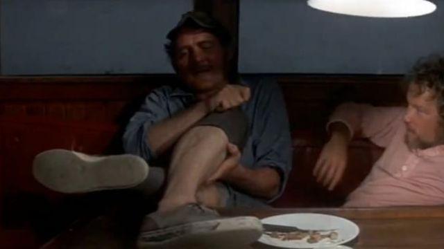 Les chaussures bateau Sperry de Quint (Robert Shaw) dans Les dents de la mer