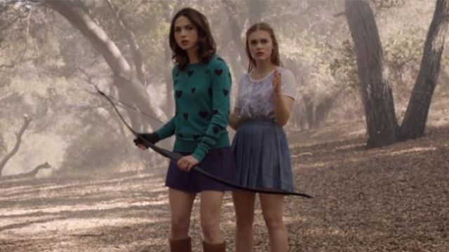 American Eagle Chambray Skirt worn by Lydia Martin (Holland Roden) in Teen Wolf