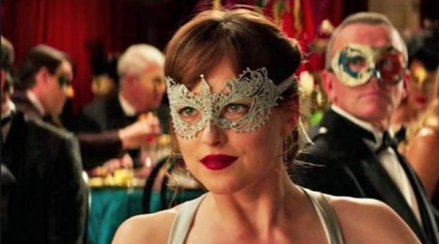 Nouveau cinquante nuances plus sombres Anastasia Steele dentelle masquerade masque 50 Shades of Grey