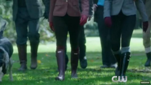rain boots by Penelope Blossom (Nathalie Boltt) in Riverdale