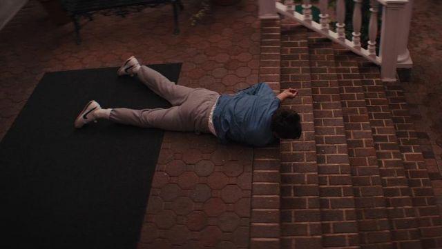 The pair of Nike Cortez, Jordan Belfort (Leonardo DiCaprio) in The wolf of Wall Street