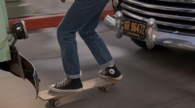 Les chaussures Converse de Marty McFly (Michael J. Fox) dans