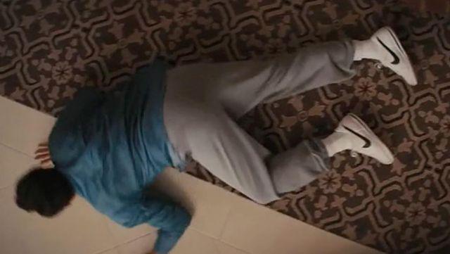 Nike shoes Cortez white of Jordan Belfort (Leonardo DiCaprio) in The wolf of Wall Street