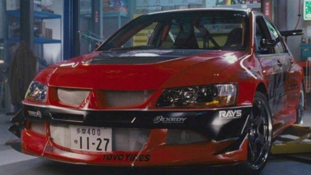 La Mitsubishi Lancer Evolution des Han Lue (Sung Kang) dans
