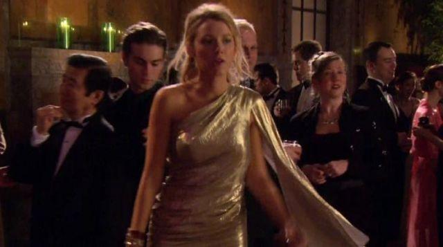 The Dress Pastel Gold Serena Van Der Woodsen Blake Lively