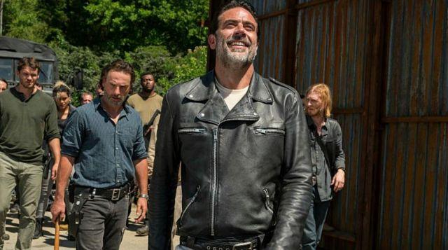 The Walking Dead Negan Hommes D'hiver Noir Veste En Cuir